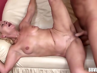 facial blonde cumshot