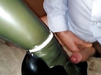 stockings amateur cumshot